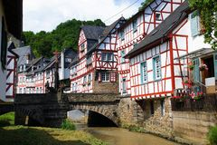 Monreal - most beautiful town in Rhineland Palatinate Royalty Free Stock Photos