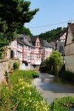 Monreal - najwięcej pięknego miasteczka w Rhineland Palatinate Obrazy Stock