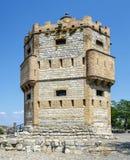 Monreal torn i Tudela, Spanien arkivfoto
