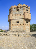 Monreal wierza w Tudela, Hiszpania Zdjęcia Royalty Free