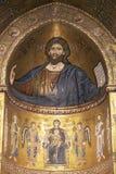 Monreale, μωσαϊκό Χριστού Pantocrator Στοκ φωτογραφίες με δικαίωμα ελεύθερης χρήσης