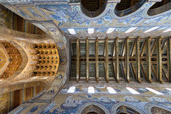 Monreale cathedral. Palermo - Ceiling of main nave in Monreale cathedral Royalty Free Stock Photo