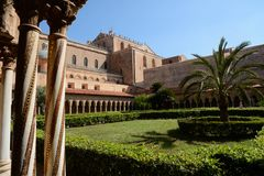 Monreale cathedral Sicily stock images