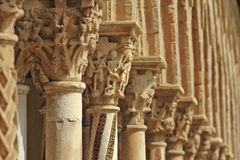 Monreale cloister. Capitels, columns and arches in Monreale cloister, near Palermo, Sicily Royalty Free Stock Photos