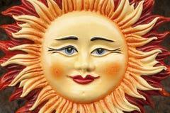 Monreale - detail of ceramic sun Stock Photo
