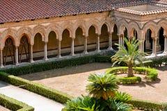 Monreale, el claustro Fotografía de archivo libre de regalías