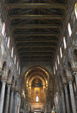 Monreale, the interiors of the norman cathedral Stock Photography