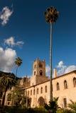 MONREALE ITÁLIA - 13 de outubro de 2009: A catedral de Monreale construída Imagem de Stock Royalty Free