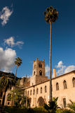 MONREALE ITALIË - Oktober 13, 2009: De Monreale-gebouwde Kathedraal Royalty-vrije Stock Afbeelding