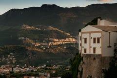 MONREALE ITALIË - Oktober 13, 2009: panorama Stock Afbeelding