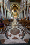 MONREALE ITALIA - 13 ottobre 2009: Interno della cattedrale di Fotografia Stock