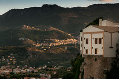 MONREALE ITALIA - 13 ottobre 2009: vista panoramica Immagine Stock