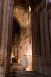 MONREALE ITALIEN - Oktober 13, 2009: Inre av domkyrkan av Royaltyfria Foton
