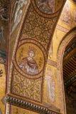 MONREALE ITALIEN - Oktober 13, 2009: Inre av domkyrkan av Fotografering för Bildbyråer