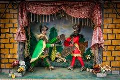 MONREALE ITALIEN - Oktober 13, 2009: teater av den Sicilian Pupien Royaltyfria Bilder