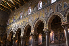 MONREALE ITALY - October 13, 2009: Interior of the Cathedral of Royalty Free Stock Photo