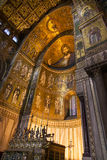 MONREALE ITALY - October 13, 2009: Interior of the Cathedral of Royalty Free Stock Photography