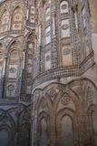 View of the Apse of Monreale Cathedral stock photos