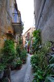 The alleys of Monreale stock photo