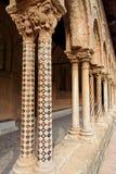 Monreale Kirche-Spalten Lizenzfreies Stockbild