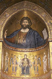 Monreale, mosaic of Christ Pantocrator Royalty Free Stock Photos