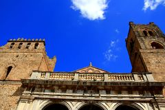 Monreale norman cathedral on bliue sky, Sicily Stock Photo