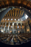 MONREALE, PALERMO, ITALY - AUGUST, 2015:Interior shot of the famous cathedral Santa Maria Nuova of Monreale on August, 2015 in Mon Royalty Free Stock Image