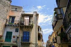 Monreale, Sicily. Classical old Sicily city street, Monreale, Palermo, Italy Royalty Free Stock Photography
