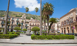Monreale - square by basilica Royalty Free Stock Photo