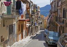 Monreale - typowa włoska śródziemnomorska nawa fotografia royalty free