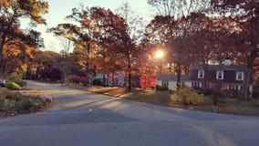Monring-Fall-Nachbarschaft Lizenzfreies Stockfoto