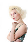 Monroe#5. The attractive blonde in similar to Monroe Stock Image