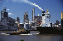 Monrovia-Frachtschiff Stockbild