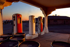 Monrovia Route 66. Old gas station along route 66 stock photo