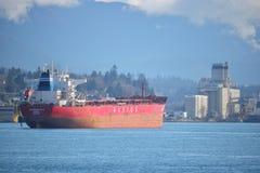 Monrowia Masowy Freighter w Vancouver schronieniu Zdjęcia Royalty Free