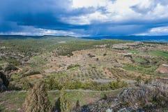 Monroyo village at Teruel, Spain Stock Image