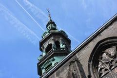 MONS, 28 België-Juli, 2016: Toren van de Heilige Elisabeth Royalty-vrije Stock Afbeeldingen