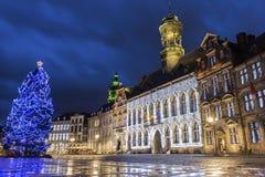 Mons i Belgien Arkivfoto