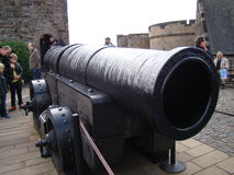 Mons meg cannon or medieval gun  in Edinburgh castle Stock Photography