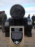 Mons meg cannon or medieval gun  in Edinburgh castle Royalty Free Stock Photos