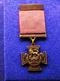 Mons Star medal Exhibit in the Regimental Museum in the City Museum in Lancaster England in the Centre of the City Royalty Free Stock Images