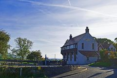 The Monsal Head Hotel, a central point to the Monsal trail, Peak District, Derbyshire. stock photos