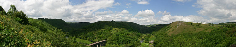 Monsal Head Panoramic View Derbyshire Royalty Free Stock Photography