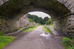 The Monsal Trail is a trail in the Derbyshire Peak District. Following a section of the former railway to link Manchester with London Royalty Free Stock Photo