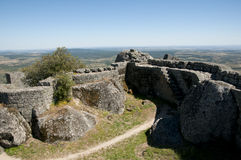 Monsanto Castle Ruins - Portugal. Monsanto Castle Ruins in Portugal Royalty Free Stock Photo