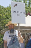 Monsanto Sux Farmer Sign Royalty Free Stock Photos