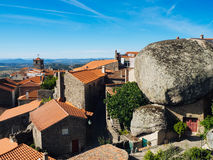 Monsanto village view  with the bell tower.  Portugal, Europe Stock Images