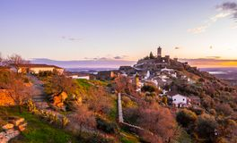 Monsaraz在阿连特茹地区,葡萄牙 库存图片