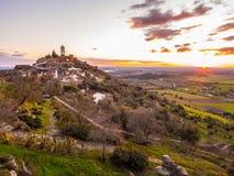 Monsaraz в области Alentejo, Португалии Стоковые Изображения RF