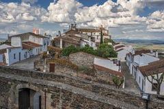 Monsaraz -一个小边界葡萄牙人堡垒 免版税库存照片